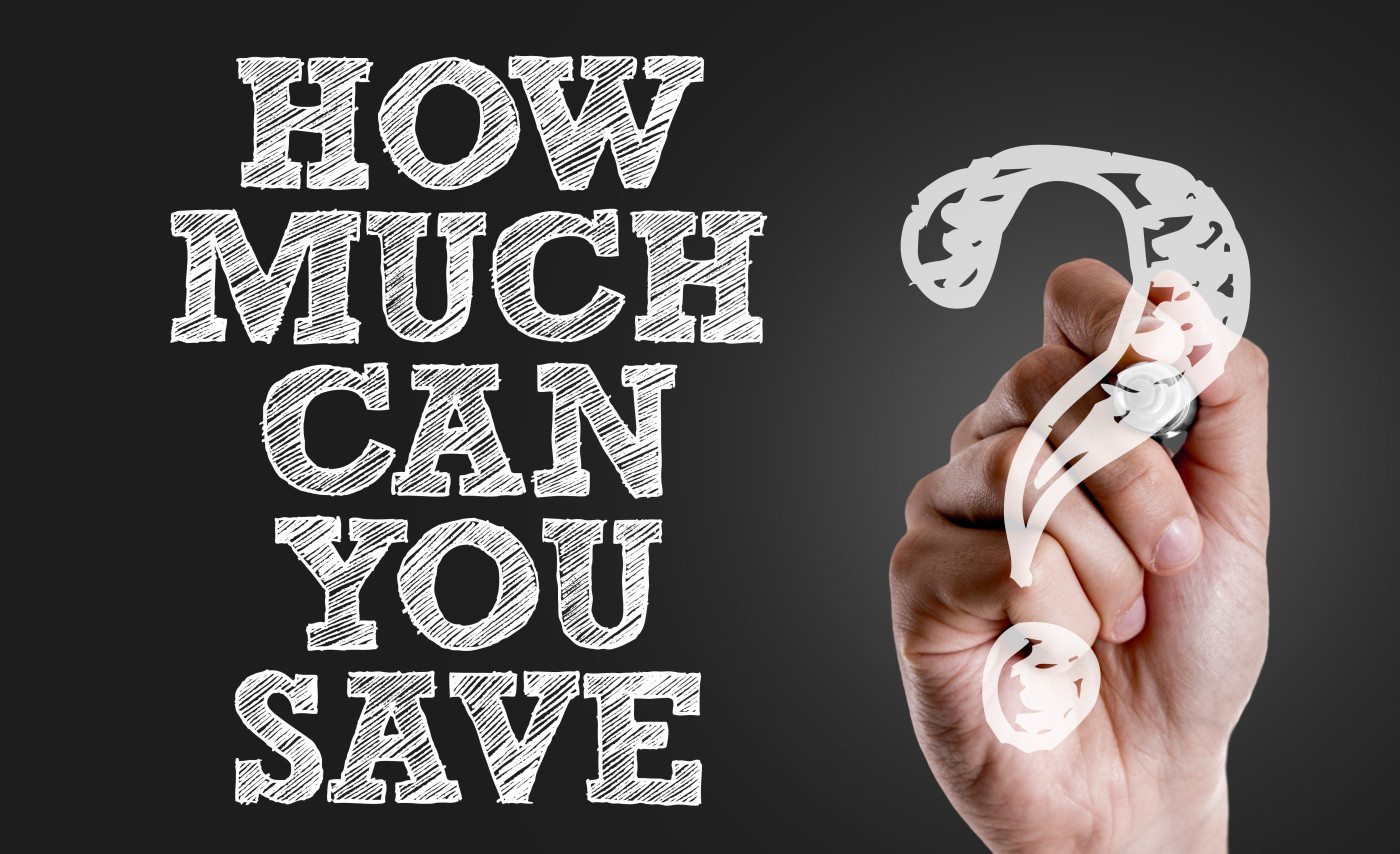Hand writing the text: How Much Can You Save?