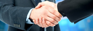 Business handshake, the deal Is finalized